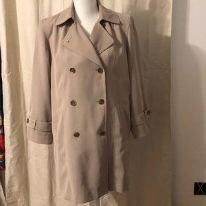 Ladies Talbots Tan Trench Coat